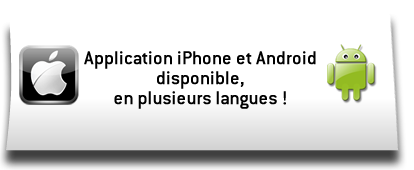 Application iPhone et Android disponible en plusieurs langues !